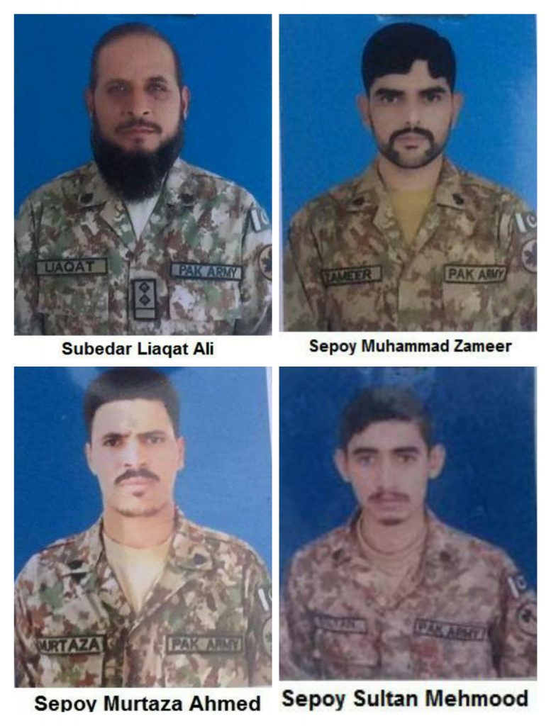 RAWALPINDI: Four youths were martyred when a Pakistan Army vehicle fell into a ditch, according to ISPR