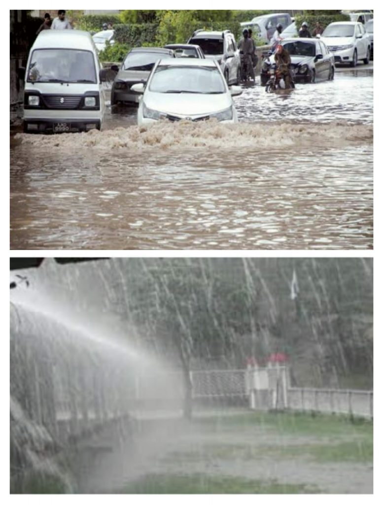 Islamabad Heavy rains cause flood situation in twin cities.