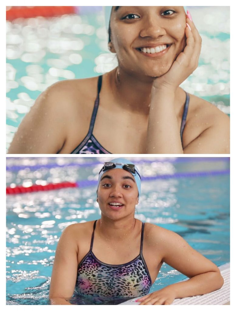 New National record Pakistani Swimmer Bisma Khan.