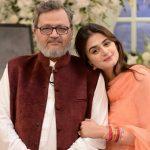 Karachi actress Haramani's father passed away.